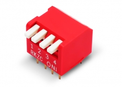 DIP SWITCH 4 LLAVES PIANO