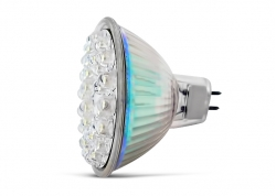 LÁMPARA DICROICA DE 30 LEDS AZUL / 12V (MR16)