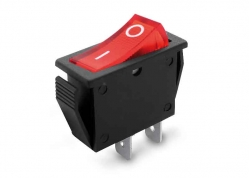 LLAVE TECLA 2P ROJA ON-OFF 15A 250V