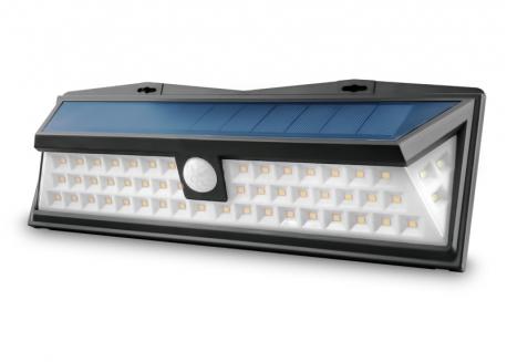 REFLECTOR LED CON PANEL SOLAR Y SENSOR MOVIMIENTO (BLANCO FRIO 8W)