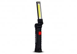 LINTERNA LED COB RECARGABLE USB PLEGABLE CON IMÁN Y GANCHO REABATIBLE 360